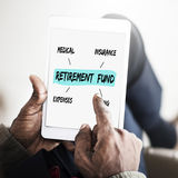 Retirement Fund Investment Diagram Concept Stock Images