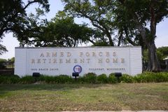 Armed Forces Retirement Home, Gulfport, MS. Retirement home for retired members of the United States Armed Forces, which includes all branches of U.S Military stock photos