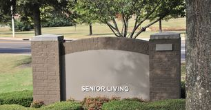 Retirement Home for Seniors. Senior living retirement home for elderly retired or semi retired men and women royalty free stock photo