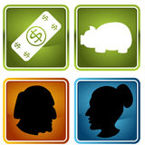 Retirement Icons Stock Photography