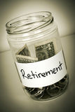 Retirement Jar Royalty Free Stock Images