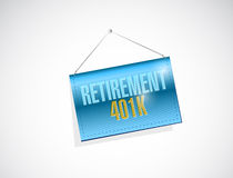 Retirement 401k banner sign concept Stock Photos
