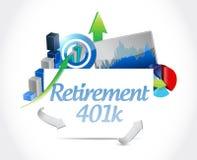 Retirement 401k business sign concept Stock Image