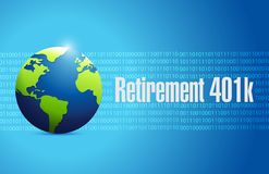 Retirement 401k globe sign concept Royalty Free Stock Photography