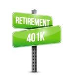 Retirement 401k street sign concept Stock Photo