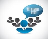 Retirement 401k team sign concept Stock Photo