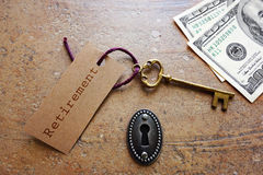 Retirement key Stock Photo