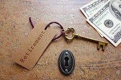 Retirement key Stock Photo