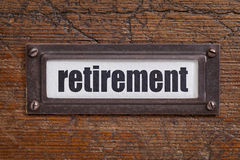 Retirement label Royalty Free Stock Images