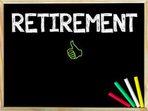 Retirement message and Like sign Royalty Free Stock Image