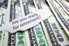 Retirement money Stock Image