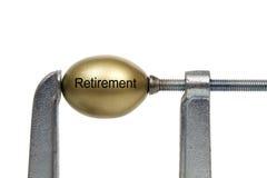 Retirement. Nest Egg Under Clamp Pressure Royalty Free Stock Photo