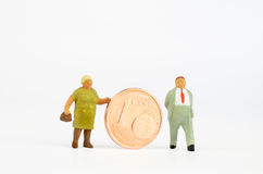 Retirement pay Royalty Free Stock Image