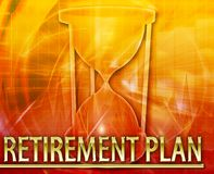Retirement plan Abstract concept digital illustration Royalty Free Stock Photography