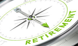 Retirement Plan, Concept Compass Image Stock Images