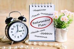 Retirement plan concept. Stock Photos