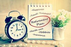 Retirement plan concept. Royalty Free Stock Photo