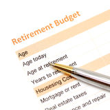 Retirement plan document Royalty Free Stock Photos
