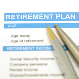 Retirement plan document Royalty Free Stock Image