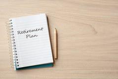Retirement plan Stock Image
