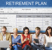 Retirement Plan Wealth Investment Seniority Concept Royalty Free Stock Photos