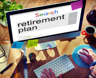 Retirement Plan Wealth Worth Security Management Concept Royalty Free Stock Photos