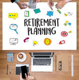 Retirement planning    woman and man at retirement financial pla. Nning with consultant or adviser Stock Photos