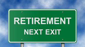 Retirement Road Sign Royalty Free Stock Photo
