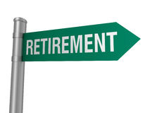 Retirement road sign Royalty Free Stock Photography