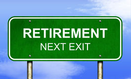 Retirement Road Sign Royalty Free Stock Image