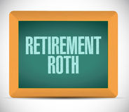 Retirement roth board sign illustration Stock Images