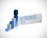 Retirement roth business graph sign Royalty Free Stock Photo