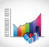 retirement roth business graphs Royalty Free Stock Photos