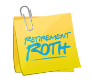 retirement roth memo post illustration Royalty Free Stock Images