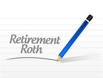 Retirement roth message sign Stock Photography