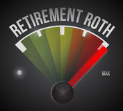 Retirement roth speedometer max sign Stock Photography