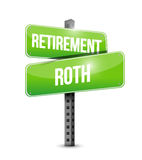 Retirement roth street sign illustration Royalty Free Stock Photo