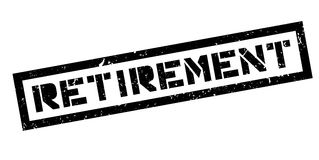 Retirement rubber stamp Royalty Free Stock Image