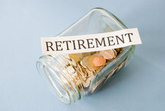 Retirement savings Royalty Free Stock Image