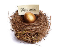 Retirement Savings Golden Nest Egg Stock Photos