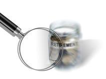 Retirement savings money in jar Royalty Free Stock Photo