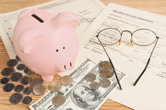 Retirement  savings Piggy Bank Stock Photos