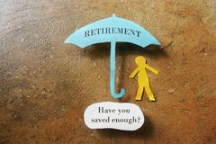 Retirement savings Stock Photos