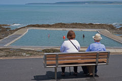 Retirement at the seaside in summer UK royalty free stock photography
