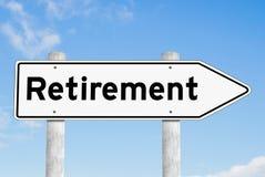 Retirement signpost direction sky. Retirement signpost direction blue sky Stock Images