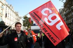 Retirement strike in Paris Royalty Free Stock Images