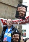 Retirement strike in Paris Stock Photos