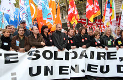 Retirement strike in Paris Stock Photography