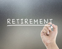 Retirement text Stock Photos