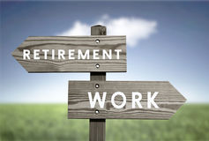 Retirement vs Work Royalty Free Stock Photography